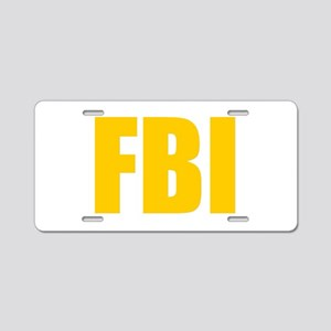 FBI Aluminum License Plate