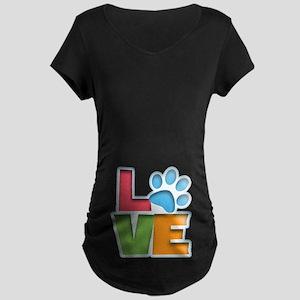 Puppy Love II Maternity Dark T-Shirt