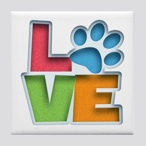 Puppy Love II Tile Coaster