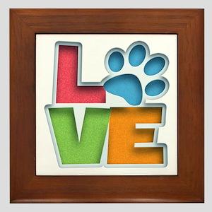 Puppy Love II Framed Tile