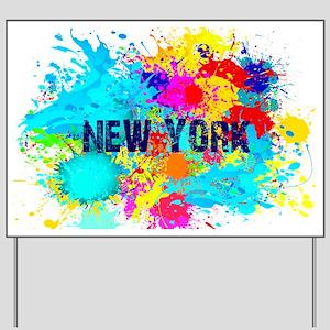 NEW YORK BURST Yard Sign