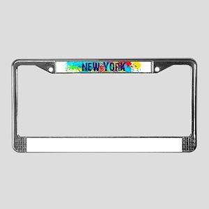 NEW YORK BURST License Plate Frame