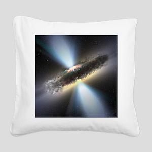 HIDDEN BLACK HOLE Square Canvas Pillow