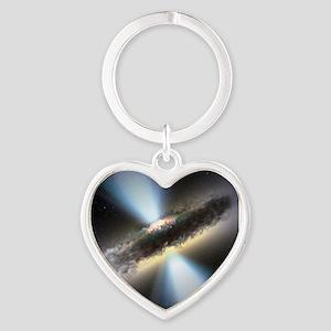HIDDEN BLACK HOLE Heart Keychain