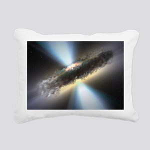 HIDDEN BLACK HOLE Rectangular Canvas Pillow