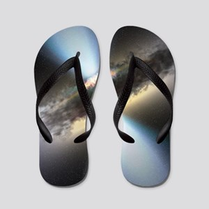 HIDDEN BLACK HOLE Flip Flops