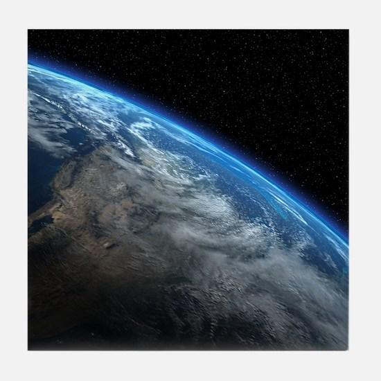 EARTH ORBIT Tile Coaster