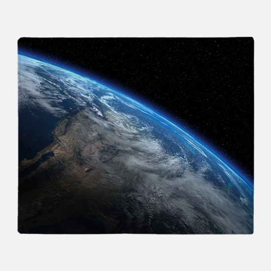 EARTH ORBIT Throw Blanket