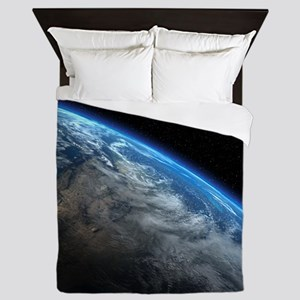 EARTH ORBIT Queen Duvet