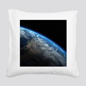 EARTH ORBIT Square Canvas Pillow