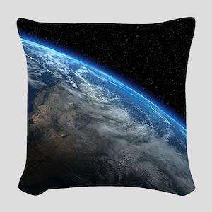 EARTH ORBIT Woven Throw Pillow