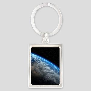 EARTH ORBIT Portrait Keychain