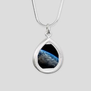 EARTH ORBIT Silver Teardrop Necklace