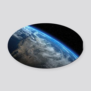 EARTH ORBIT Oval Car Magnet