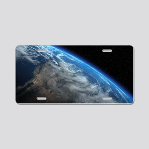 EARTH ORBIT Aluminum License Plate