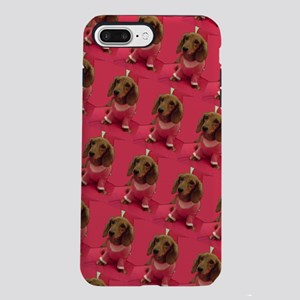 Pink Dachshund Mirage 4 iPhone 8/7 Plus Tough Case