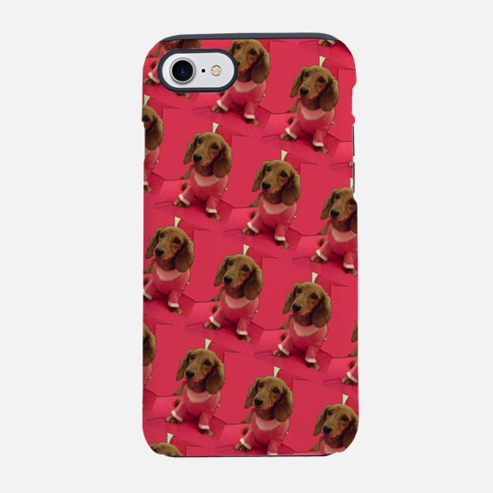 Pink Dachshund Mirage 4Laure iPhone 8/7 Tough Case
