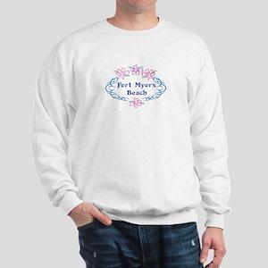 Fort Myers Beach: Flower Oval Sweatshirt