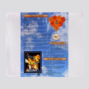 What is CRPS Balloons Blue Sky Throw Blanket