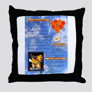 What is CRPS Balloons Blue Sky Throw Pillow