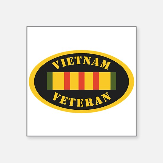 """Funny Army military sister Square Sticker 3"""" x 3"""""""