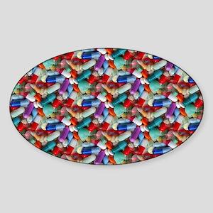 drugs pills Sticker (Oval)