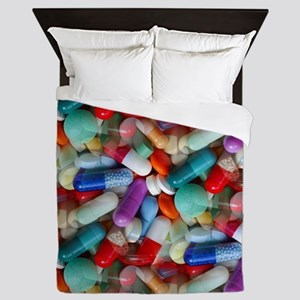 drugs pills Queen Duvet