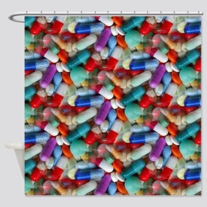 drugs pills Shower Curtain