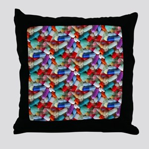 drugs pills Throw Pillow