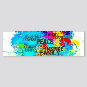 Good Vibes Color Splash Bumper Sticker