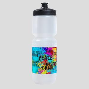 Good Vibes Color Splash Sports Bottle