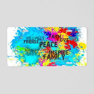 Good Vibes Color Splash Aluminum License Plate