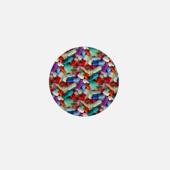 drugs pills Mini Button