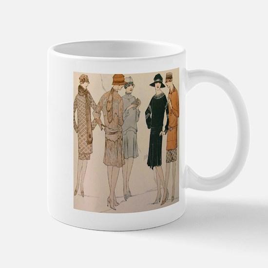 Flapper Autumn Fashion Mugs