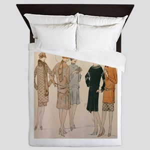 Flapper Autumn Fashion Queen Duvet