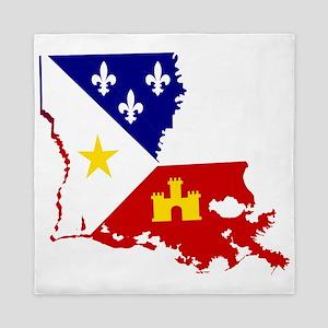 Acadiana State of Louisiana Queen Duvet