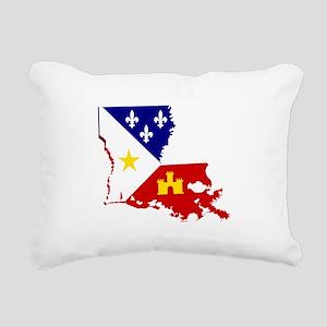 Acadiana State of Louisi Rectangular Canvas Pillow