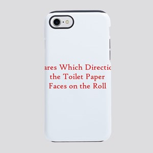 Cares Which Direction Toilet iPhone 8/7 Tough Case