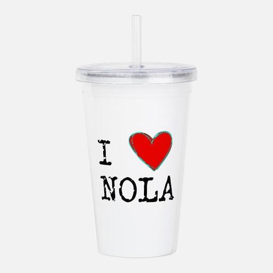 I Love NOLA Acrylic Double-wall Tumbler