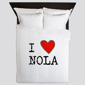 I Love NOLA Queen Duvet