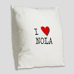 I Love NOLA Burlap Throw Pillow
