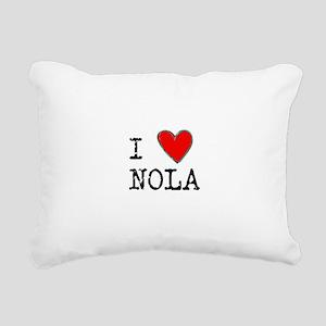 I Love NOLA Rectangular Canvas Pillow