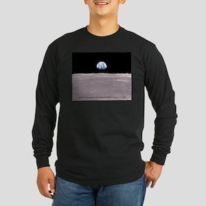 Earthrise on Moon Apollo 11 Long Sleeve T-Shirt