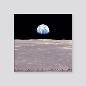 Earthrise on Moon Apollo 11 Sticker