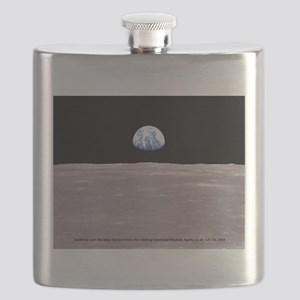 Earthrise on Moon Apollo 11 Flask
