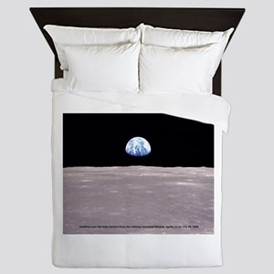 Earthrise on Moon Apollo 11 Queen Duvet