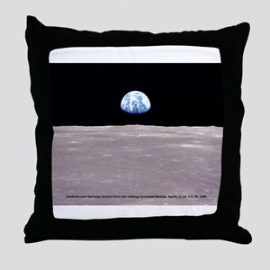 Earthrise on Moon Apollo 11 Throw Pillow