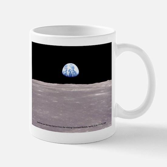 Earthrise on Moon Apollo 11 Mugs