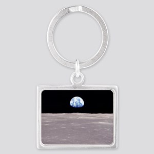 Earthrise on Moon Apollo 11 Keychains