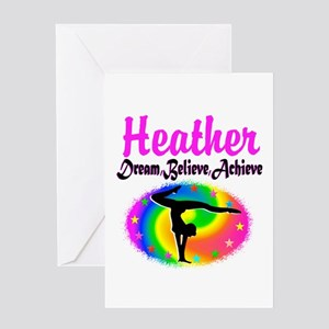 GYMNAST QUEEN Greeting Card